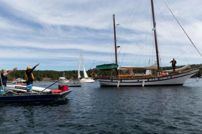 Lasqueti Yacht Club Sail Past June 2019