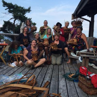 Bull Kelp and Mixed Media Baskets