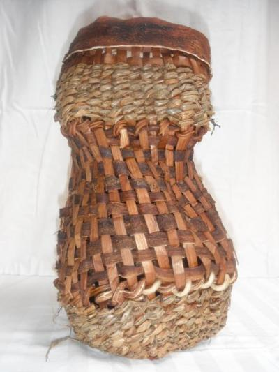 Cedar and bull kelp basket