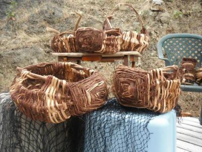 Cedar root gathering basket