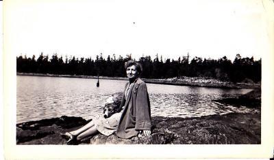 Clara Laing on Lasqueti, about 1950