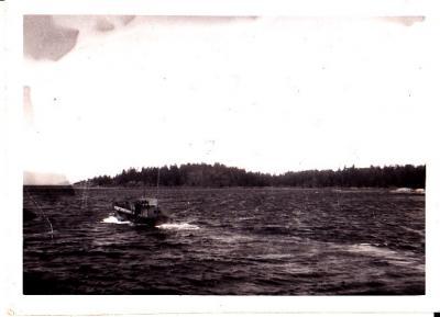 Dick Smith's Barge, False Bay 1951-52