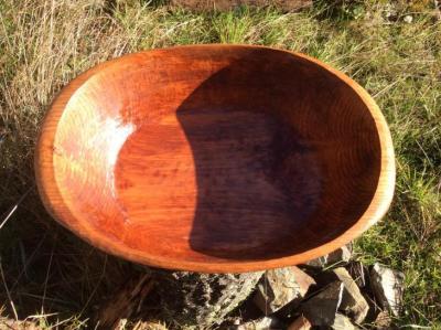 A Hand carved alder bowl