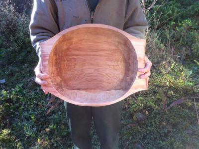 A large alder salad bowl