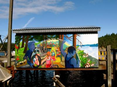 Frieght shed mural
