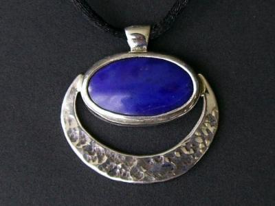 Blue Mayan Moon Pendant