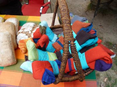 Wool socks at the Saturday market!
