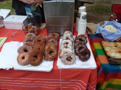 coffee and donuts at the market