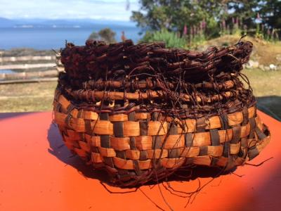 Split Cedar Root and Wild Cherry Basket
