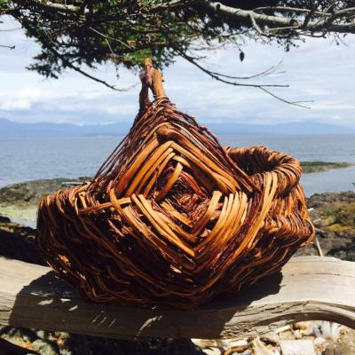 Split Cedar Root Basket