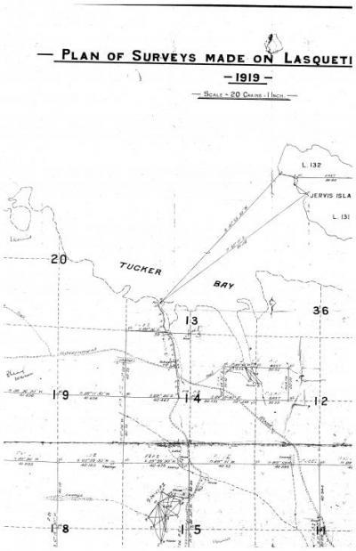 Tucker Bay Survey, 1919