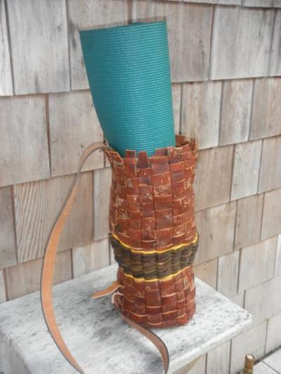 Yoga mat carrying basket
